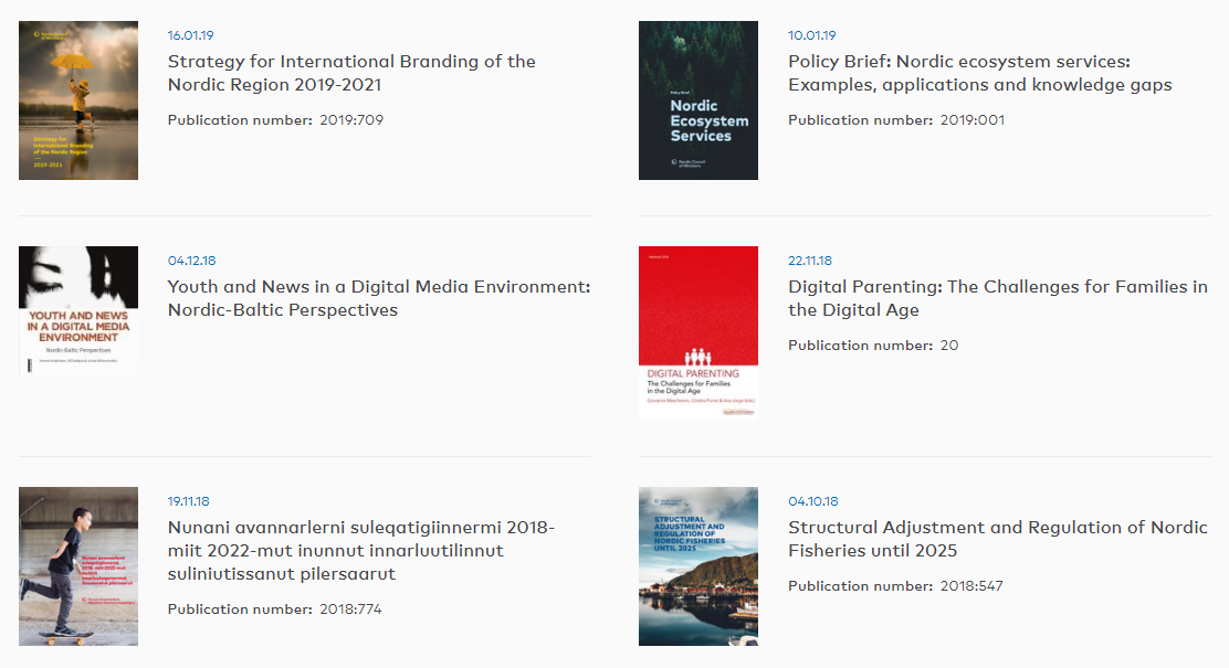 Publications The Nordics