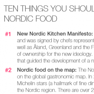 10 things you should know about Nordic Food