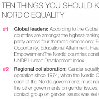 10 things you should know wbout Nordic equality