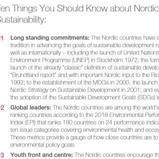 10 things you should know about Nordic sustainability
