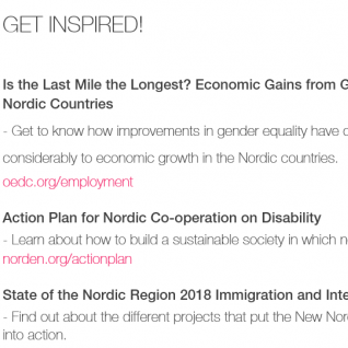 Get inspired! Equality The Nordics